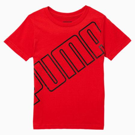 Slanted Logo Little Kids' Tee, HIGH RISK RED, small