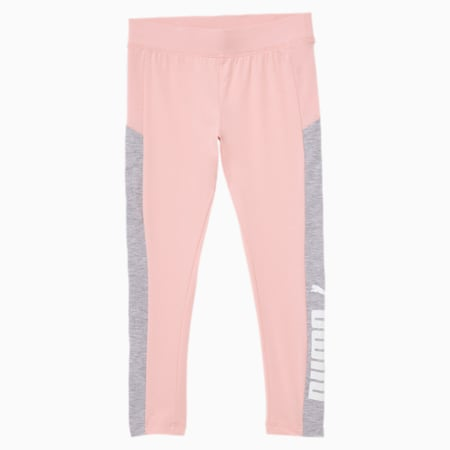 Leaping Cat Little Kids' Colorblocked Leggings, CRYSTAL ROSE, small