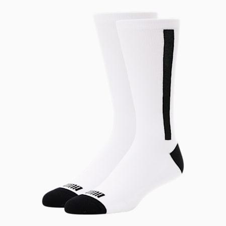 Calcetines deportivos para hombre7 [paquete de 2], BLANCO / NEGRO, pequeño