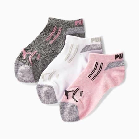 Calcetines cortos para niña [paquete de 3], ROSADO / NEGRO, pequeño