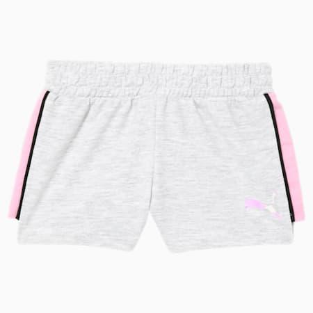 Shorts de felpa Core para bebé, WHITE HEATHER, pequeño