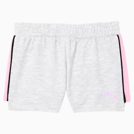 Shorts de felpa Core para niños pequeños, WHITE HEATHER, pequeño