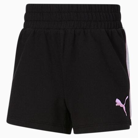 Shorts de felpa francesa Core JR, PUMA BLACK, pequeño