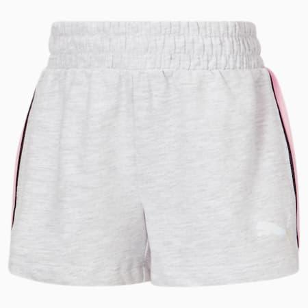 Shorts de felpa francesa Core JR, WHITE HEATHER, pequeño