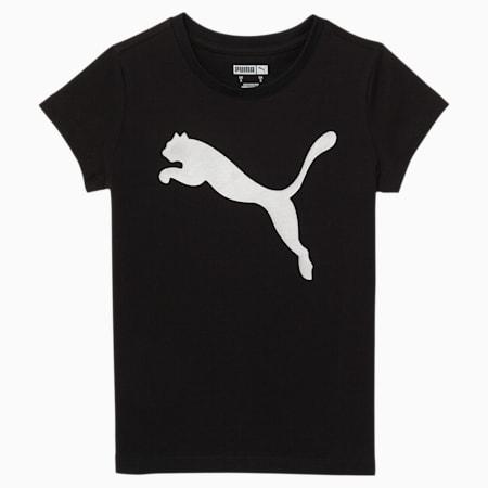 T-shirt graphique Untamed, jeune enfant, NOIR CHINÉ, petit