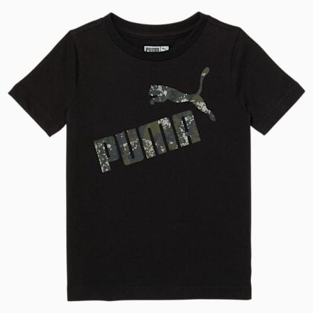 T-shirt graphique camouflage, tout-petit, NOIR PUMA, petit