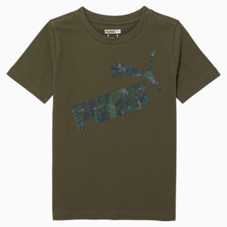T-shirt graphique camouflage, jeune enfant, FEUILLE DE VIGNE, petit