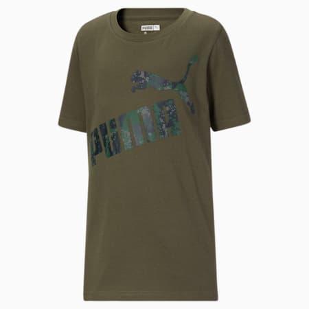 T-shirt graphique camo, enfant, FEUILLE DE VIGNE, petit