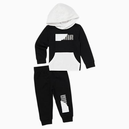 Equipo deportivo y sudadera con capucha para bebé, PUMA BLACK, pequeño