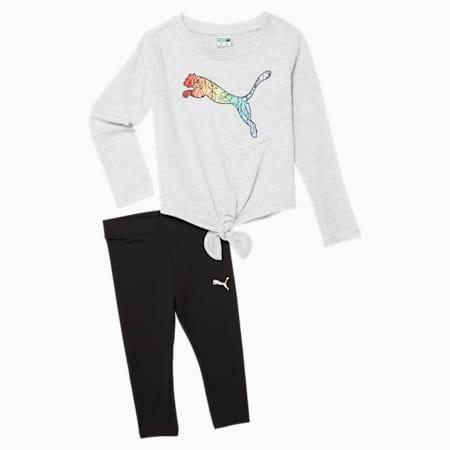 Conjunto de leggings y camiseta para bebés, WHITE HEATHER, pequeño