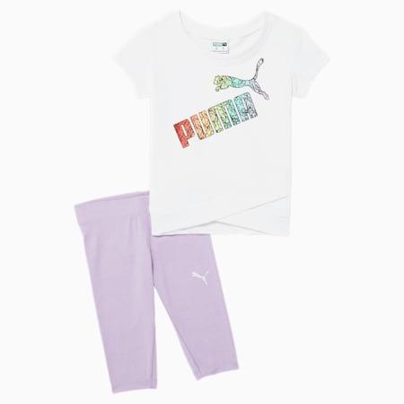 Conjunto de leggings y camiseta para bebés, PUMA WHITE, pequeño