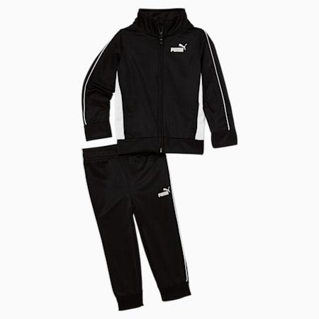 Conjunto de chaqueta deportiva y pantalón para bebé, PUMA BLACK, pequeño