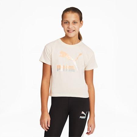 T-shirt graphique Gloaming, fille, enfant, LUEUR IVOIRE, petit