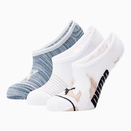 Calcetines tobilleras para mujer [paquete de 3], ROSADO / AZUL, pequeño