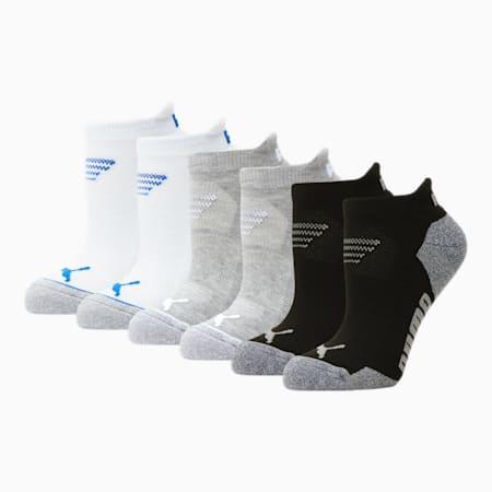 Calcetines cortos para mujer [paquete de 6], BLANCO / AZUL, pequeño