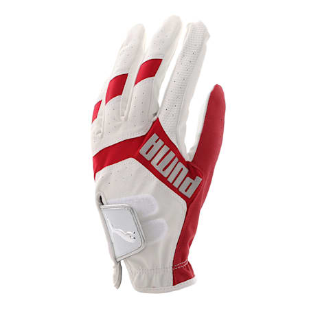 ゴルフ 3D リブート グローブ 左手用, White / High Risk Red, small-JPN