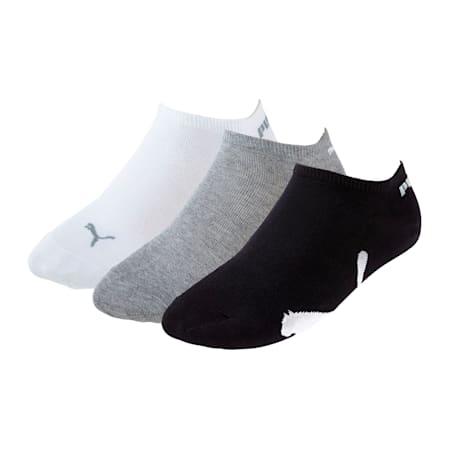 スニーカー ソックス(3足組), white-grey-black, small-JPN