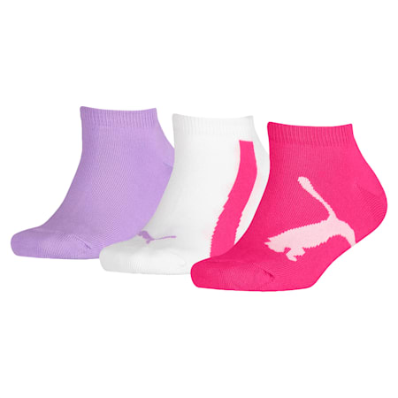 Lot de trois paires de chaussettes pour basket Lifestyle pour enfant, beetroot purple-white-purple, small