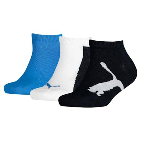 Lot de trois paires de chaussettes pour basket Lifestyle pour enfant, navy-white-strong blue, small