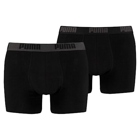 Basic Men's Boxers 2 pack, black / black, small