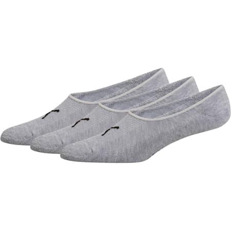 Men's Liner Socks (3 Pack), GREY / BLACK, small