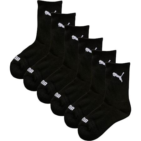 Calcetines deportivos para niños (paquete de 6), negro, pequeño