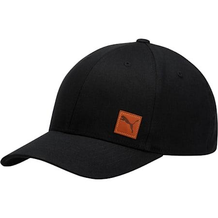 Denominator Flexfit Hat, BLACK, small