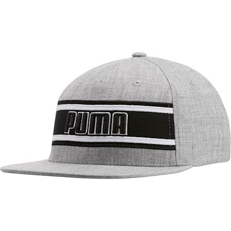 STAGE DIVE FLATBILL FLEXFIT Hat, GREY/BLACK, small