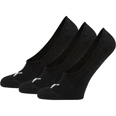 Calcetines invisibles de felpa Select para mujer [paquete de 3], NEGRO / BLANCO, pequeño