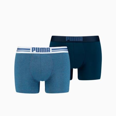 Pack de 2 bóxers para hombre Placed Logo, denim, small