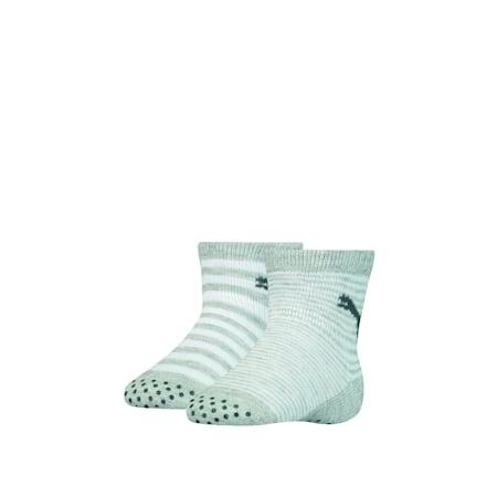 Baby Anti-Slip Socks 2 Pack, grey melange, small