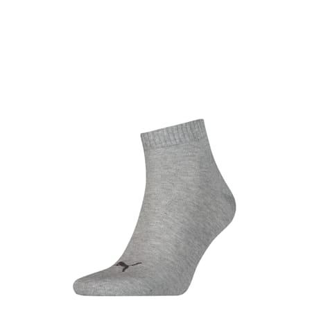 Basic Trainers Quarter Socks 1 Pack, mid grey melange / black, small-SEA