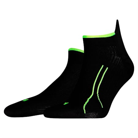 PUMA Unisex Performance Running Trainer Socks (1 Pack), black, small