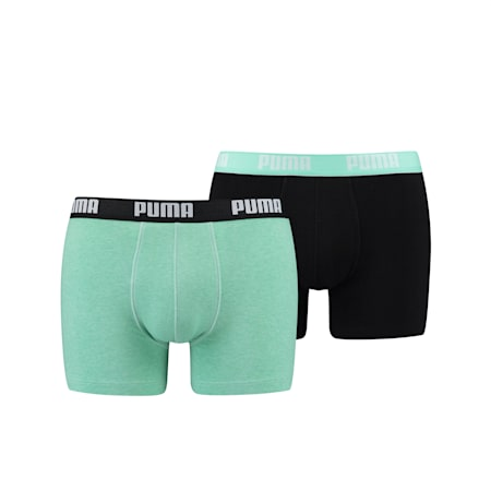 PUMA Basic Men's Boxers (2 Pack), mint combo, small