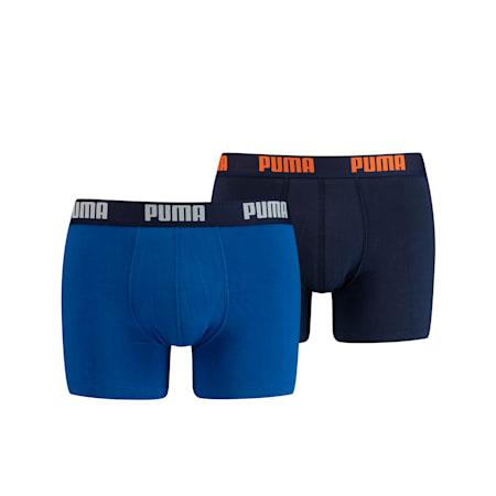 Basic herenboxers set van 2, blue, small