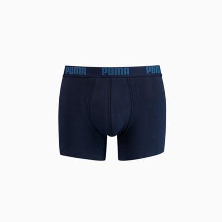 Men's Basic Boxer Shorts 2 Pack, navy, small