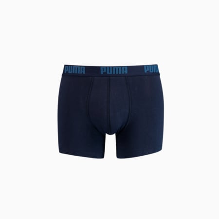 PUMA Basic Men's Boxers 2 pack, navy, small-GBR