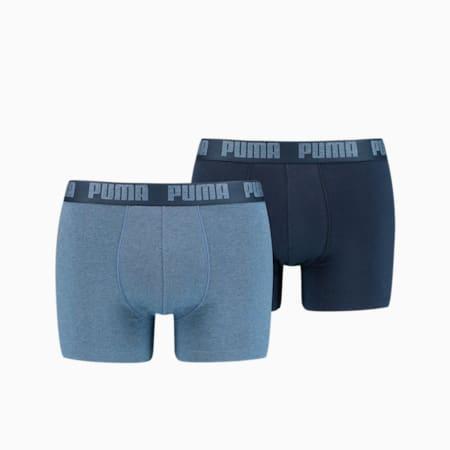 Confezione da 2 paia di boxer Basic uomo, denim, small