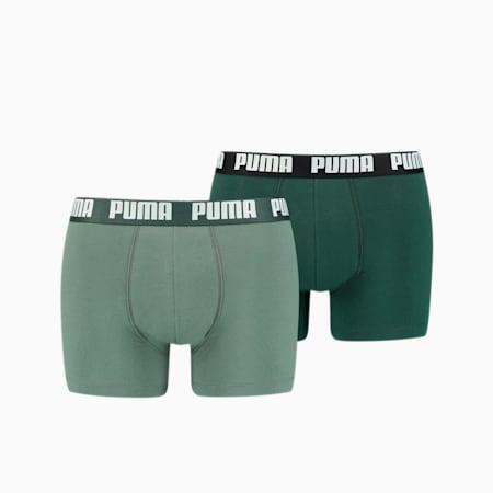 Lot de 2 boxeurs Basic pour homme, green combo, small