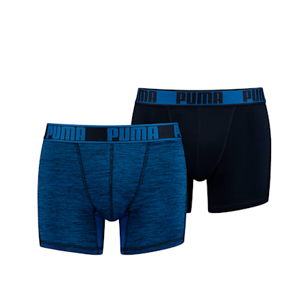 Active Grizzly Melange Men's Boxers 2 pack, blue, small