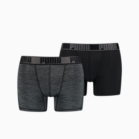 Pack de 2 bóxers para hombre Active Grizzly Melange, black, small