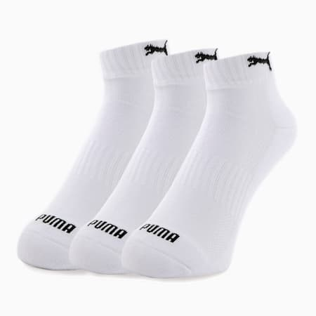 プーマ ユニセックス クォーター クッション ソックス 靴下 3枚組, white, small-JPN