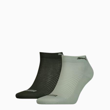 PUMA Quarter Women's Socks (2 Pack), aqua green, small