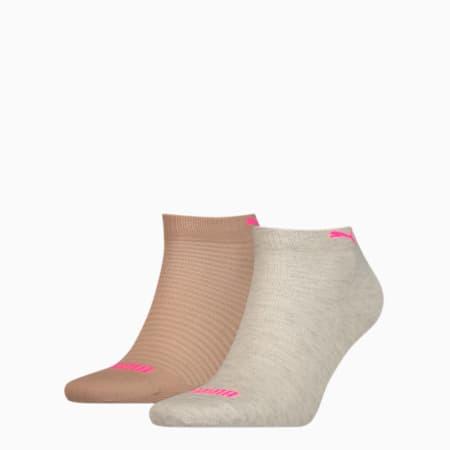 Calze sopra la caviglia PUMA da donna (confezione doppia), oatmeal, small