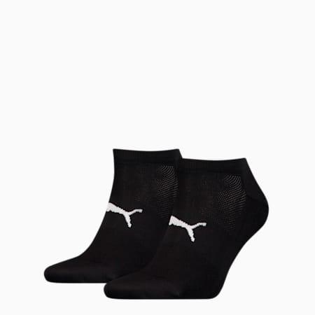 Performance Train Light Unisex Sneaker Socks Two-Pack, black / white, small