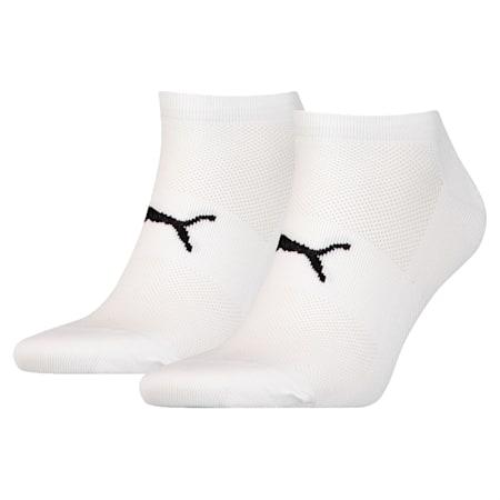 Performance Train Light Unisex Sneaker Socks Two-Pack, white / black, small