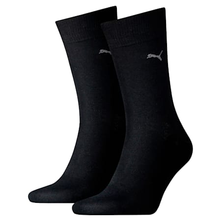 PUMA Men's Classic Socks  (2 Pack), black, small