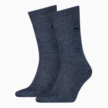 PUMA Men's Classic Socks 2 pack, denim blue, small
