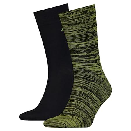 Klassische Socken 2er Pack, lime green, small