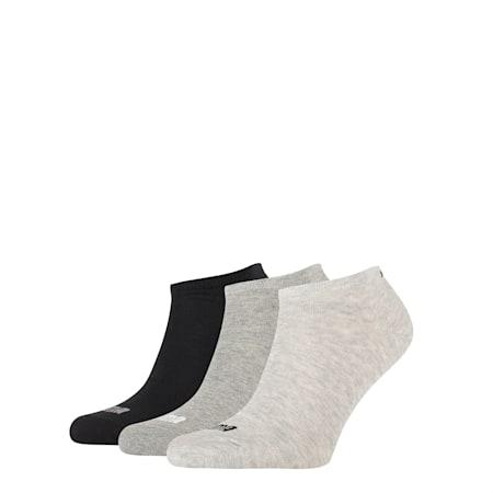 Basic Trainers Socks 3 Pack, light grey melange, small-SEA